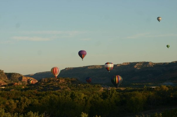 Our annual hot air balloon festival ends with a sunrise launch in the canyon.