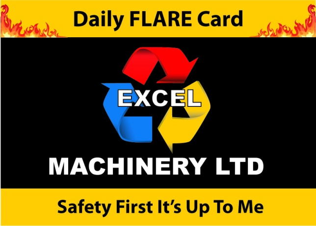 Safety Card Design for Excel Machinery